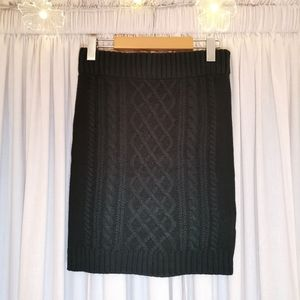 Streetwear Society Black Woven/Knit Skirt